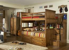 Estes Park Full Over Full Stairway Bunk Bed - Full over full bunk bed with trundle