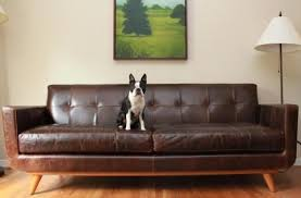 Tufted Faux Leather Sofa by Lovable Leather Mid Century Modern Sofa Mid Century Modern Wooden