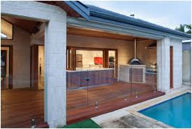 Kitchen Designs On A Budget by Backyards Chic Fancy Decking Floor And Glass Pool Fence Feat
