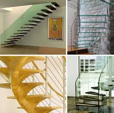 steel strong floating glass open tread staircase pictures