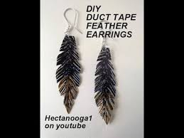duct earrings jewelry diy duct feather earrings duck crafts