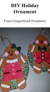 diy foam gingerbread ornaments