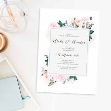 after wedding invitations pastel floral wedding invitations berries sail and swan pastel