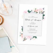 pastel floral wedding invitations berries sail and swan pastel