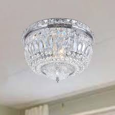 Chandelie Bedroom Extraordinary Flush Mount Crystal Chandelie Elegant Room