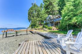 this vashon beach cottage feels like your own private island