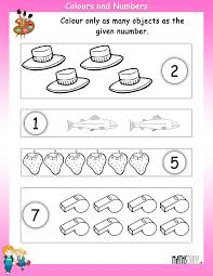 numbers u2013 nursery math worksheets