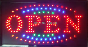shop open sign lights 2017 new shop open sign direct selling led sign 10x19 inch semi