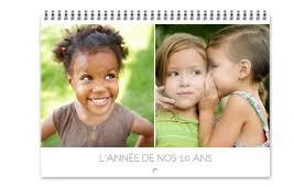 calendrier bureau personnalisé grand calendrier photo vertical personnalisé avec photobyinitial fr