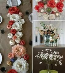 diy tissue paper flower centerpieces via zakka life parties
