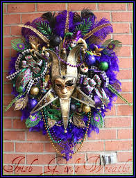 mardi gras bead wreath girl s wreaths where the difference is in the details