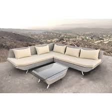 decor luxury stunning brown fabric deep seat sectional and stone