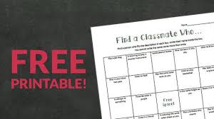 find classmates for free free printable find a classmate who icebreaker activity