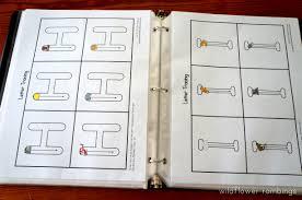 preschool handwriting notebook free printable wildflower