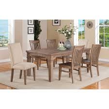 alpine furniture aspen extension dining table iron brush antique