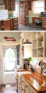 old farmhouse kitchen cabinets before and after customed cabinet door in this kitchen