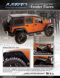 jeep fender flares jk lund new jeep jk tj elite series rx u2013 rivet style fender flares