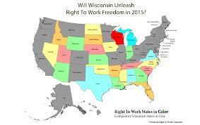 wisconsin map usa usa right to work map wisconsin national right to work committee