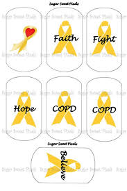 copd ribbon instant copd awareness gold ribbon by sugarnspicebow my