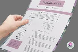 floral cv template design resume templates on thehungryjpeg com
