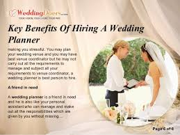 wedding planner requirements key benefits of hiring a wedding planner