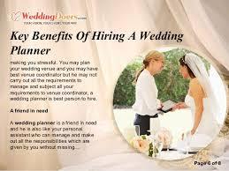 i need a wedding planner key benefits of hiring a wedding planner