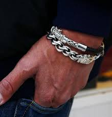 silver bracelet styles images 15 different types of silver bracelets for men styles at life png