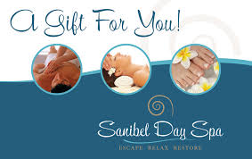 spa gift cards sanibel day spa gift certificate