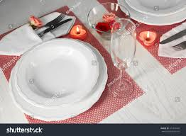 table setting pictures table setting two person dishes cutlery stock photo 371441416