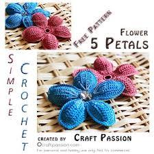 amigurumi pattern pdf free 5 petal flower free crochet pattern craft passion page 2 of 2