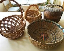 baskets for gifts vintage gift basket etsy