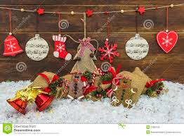 shabby chic rustic christmas decorations royalty free stock photo