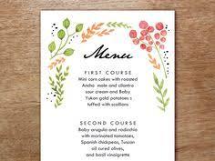 wedding menu vintage floral black white striped wedding menu