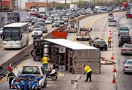 Sigalert Com Los Angeles Traffic Map by Big Rig Loaded With Cement Blocks Overturns On 210 Freeway U2013 San