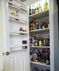 Kitchen Cabinet Door Spice Rack Height Wooden Cabinet Door With Hanging Metal Spice Racks Storage