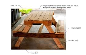 Plans For Picnic Table With Attached Benches by Ana White Pallet Picnic Table How To Diy Projects
