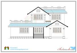 Floor Plan With Roof Plan 2500 Sq Feet House Plan Design Features 2 Floors House Plan With