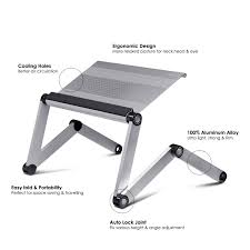 Laptop Desk White by Amazon Com Furinno A6 Silver Ergonomics Aluminum Vented