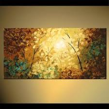 original abstract modern landscape made landscape blooming tree painting original abstract modern palette