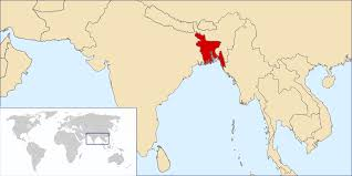 India On The World Map by The Red Country On This Map Is Bangladesh It Sits Between Burma