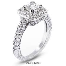 vintage square engagement rings 14k white gold vintage style engagement ring with halo with 1 54