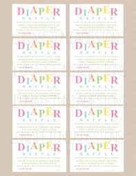 diaper raffle tickets coordinates with sprinkle invitation any