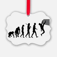 rock climbing ornament cafepress