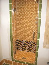 Frameless Shower Doors Los Angeles Single Frameless Shower Door Mediterranean Bathroom Los