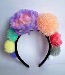 festival headbands festival headband pom pom crown flower by marjorieandjune on etsy