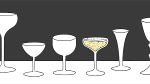 champagne glass cartoon myth busts the enduring legacy of breast shaped glassware eater