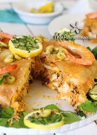 cuisine marocaine brick pastilla au poisson et aux fruits de mer cuisine marocaine