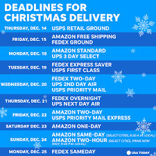 2017 important shipping deadlines