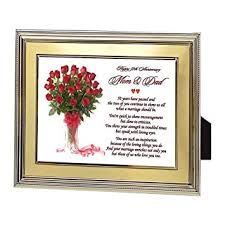 50th wedding anniversary gift ideas for parents and 50th anniversary gift parents golden