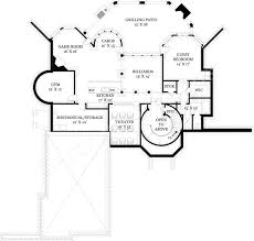 hennessey courtyard luxury floor plan 4000 sq ft house plan